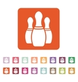 The bowling icon Game symbol Flat vector image vector image