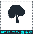 Tree icon flat vector image