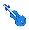 violin line icon vector image