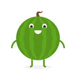 watermelon cute fruit character vector image vector image