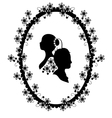 wedding frame silhouette vector image vector image