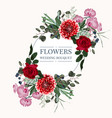 wedding invitation floral invite thank you card vector image vector image