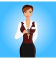 Woman hotel receptionist portrait vector image vector image
