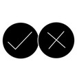 yes and no icon in trendy flat style on white vector image