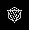 yh logo monogram with triangle and hexagon shape vector image vector image