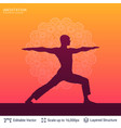 yoga background template vector image vector image