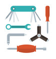 screwdrivers and wrenches set vector image