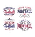 American Football Badges vector image