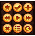 Button set for mobile game vector image