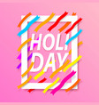 holiday cover text banner vector image
