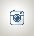 Vintage photo camera icon Minimalism concept vector image
