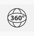 360 degree view icon vector image vector image