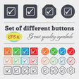 A check mark icon sign Big set of colorful diverse vector image vector image