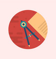 a geometric callipers and paper vector image