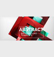 abstract geometric background glossy square vector image vector image