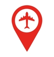 airport location pin isolated icon design vector image vector image