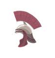 ancient rome centurion helmet with crest vector image