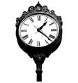 antique clock in black vector image vector image