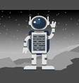 astronaut in an outer space vector image vector image