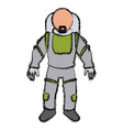 astronaut space suit people science astronomy vector image vector image