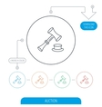 Auction hammer icon Justice and law sign vector image vector image