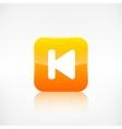 Back track web iconMedia player vector image