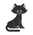 black cat isolated sweetheart kitten home pet vector image