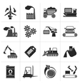 Black different kind of business and industry icon vector image vector image