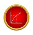Business graph icon in simple style vector image