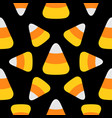 candy corn happy halloween seamless pattern vector image vector image