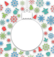 christmas paper ball on texture with traditional vector image vector image