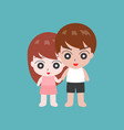 couple holding hand in casual dress flat design c vector image vector image