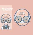 cute school teacher cartoon vector image