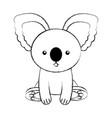 cute sketch draw koala cartoon vector image vector image