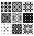 decorative monochrome tile vintage patterns vector image vector image