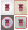 delivery flat icons 02 vector image vector image