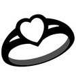 diamond love ring symbol vector image vector image