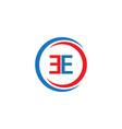 ee company logo template design vector image