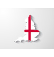 england map with shadow effect vector image vector image
