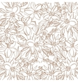 Floral contour pattern lily and mine vector image vector image