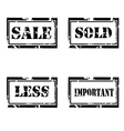 For sale grunge stamp set vector image