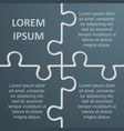 four pieces puzzle infographic 4 step puzzle vector image vector image