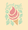 fresh retro design for t shirt ice cream vector image