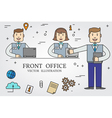 Front office Thin line icon vector image vector image