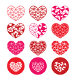 Geometric red and pink heart for Valentines Day vector image vector image