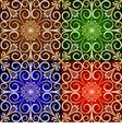 Golden Flower Tile Background vector image vector image