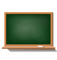 Green school board isolated on white background vector image