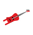 Guitar for rock musician Electric guitar in form vector image