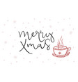 hand lettering greeting merry xmas text vector image vector image