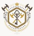 heraldic design vintage emblem